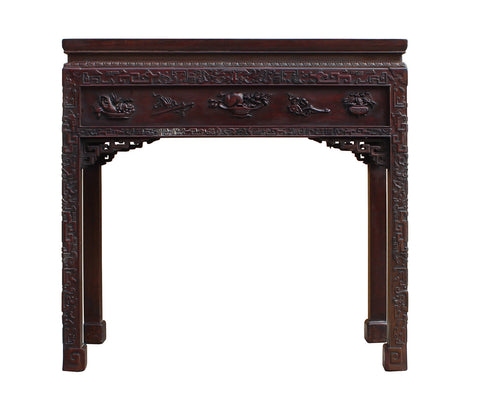 rosewood table - Chinese side table - carving table