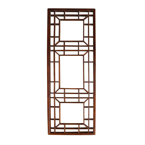 antique Asian wood panel, partition panel, wall screen panel