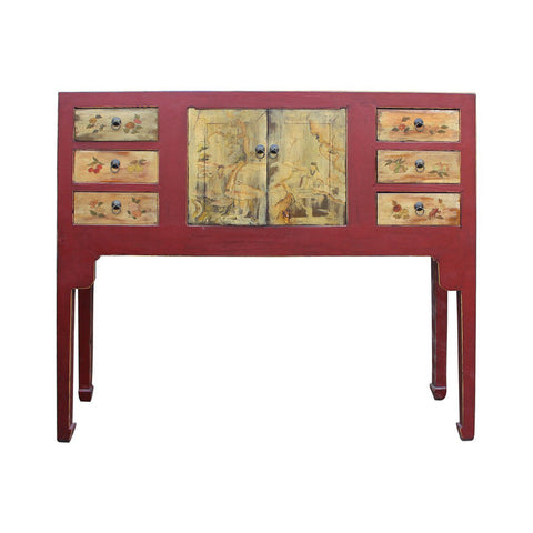 altar table - foyer table - red side table