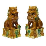 pair ceramic feng shui foo dog