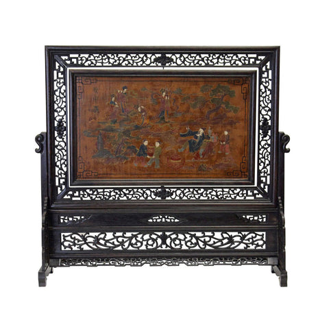 panel - screen art - Chinese lacquer art
