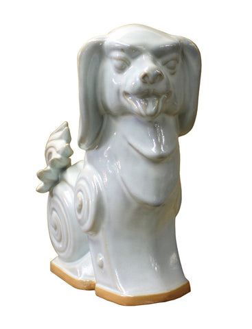 White Dog - Ceramic Dog - Dog Figure