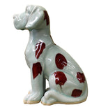 Domino Dog - Ceramic Dog - Dog Figure