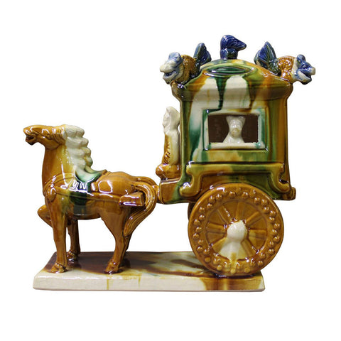 ceramic Tong dynasty wagon