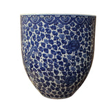 Blue White Pot - Porcelain Pot - Planter