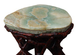 stone top table - stand - side table