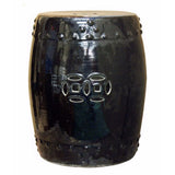 black color ceramic garden stool