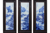 blue white porcelain - wall panel - Chinese wall art
