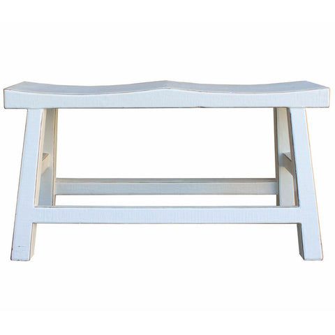 white color long bench