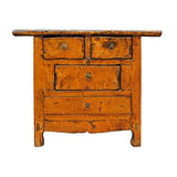 rustic orange side table cabinet