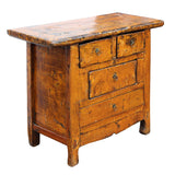 orange cabinet - side table - rustic cabinet