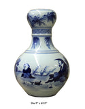 "Chinese Blue White Porcelain Scenery Suantouping ""Garlic-mouth"" Vase cs2505S"
