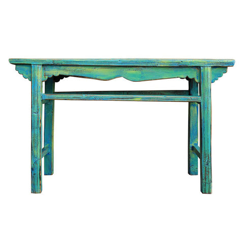 blue color antique Chinese simple look altar table