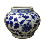 Chinese Blue White Porcelain Scenery Small Accent Pot Vase cs2519S