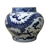 Chinese Blue White Porcelain Scenery Small Accent Pot Vase cs2521S