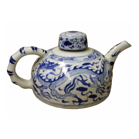 Chinese ceramic blue white teapot