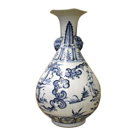 porcelain vase - blue white - Chinese vase