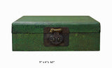 Chinese Green Vintage Pattern Rectangular Box cs2534S