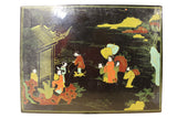 Chinese Black Oriental Color Scenery Graphic Box cs2542S