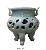 Chinese Ru Ware Celadon Ceramic Ding Incense Burner Display