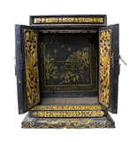 buddha house - old Chinese box - golden carving
