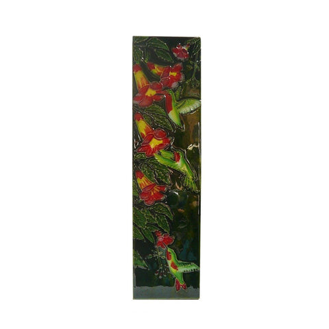 Chinese Porcelain Humming Birds Wall Hanging Art cs256