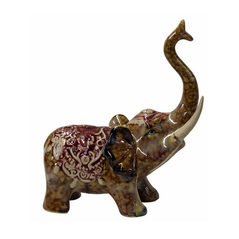 elephant - trunk up elephant - ceramic elephant