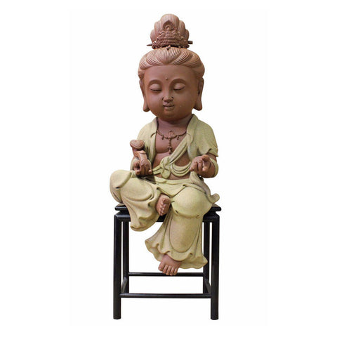 ceramic Kwan Yin - Bodhisattva -  goddess of mercy - goddess of compassion