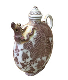 ceramic container - white clay jar - Chinese ceramic