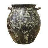 ceramic pot - rough glaze - clay rustic pot
