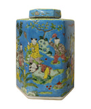 hexagon jar - Chinese porcelain - Blue jar