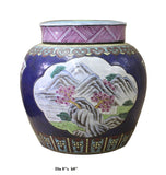 Chinese Zisha Clay Color Scenery Continer Jar cs2635S