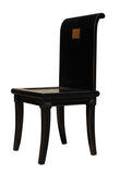 black chair - chair with back - Oriental fusion chair