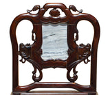 Vintage Chinese Rosewood Dream Stone Accent Chair cs2648S
