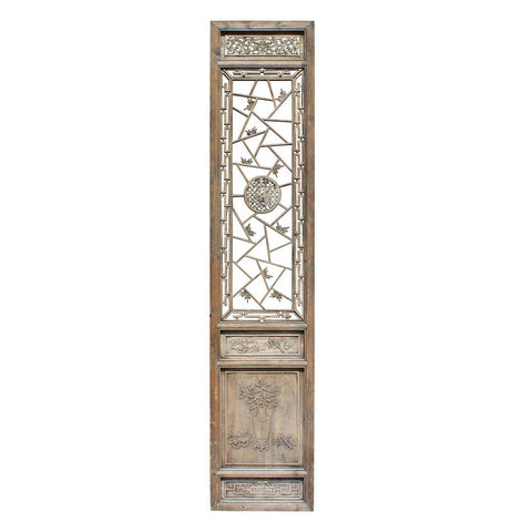 antique Asian tall door panel - partition panel