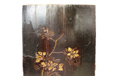 Vintage Restored Golden Yellow Relief Flower Carving Wood Panel Art cs2691S