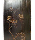 Vintage Restored Golden Yellow Relief Flower Carving Wood Panel Art cs2692S