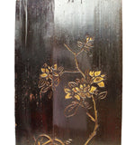 Chinese gold painted flower panel