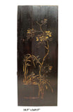 Vintage Restored Golden Yellow Relief Flower Carving Wood Panel Art cs2693S