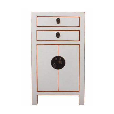 white color end table - nightstand