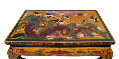 ... Chinese Tibetan Yellow Lacquer Cranes Pine Table Stand Cs2700S ...