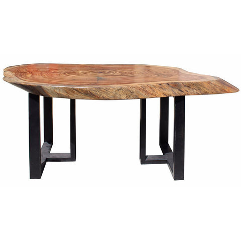 natural thick wood table