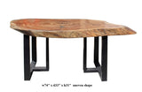 dining table - raw wood plank - desk