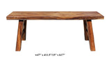 Oriental Zen Natural Wood Double Seat Plank Bench cs2720S
