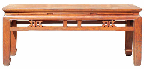 bench - coffee table - raw wood bench