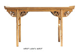 Chinese Raw Wood Altar Dragon Carving Apron Console Side Table cs2735S