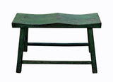 bench - green stool - double seat