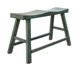 Distressed Rustic Green Lacquer Double Seat Bench cs2752S
