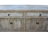 Chinese Distressed Finish High Credenza Console Buffet Table cs2774S