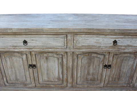 Credenza Console : Chinese distressed finish high credenza console buffet table